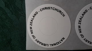 National Library of New Zealand Christchurch  DVD labels