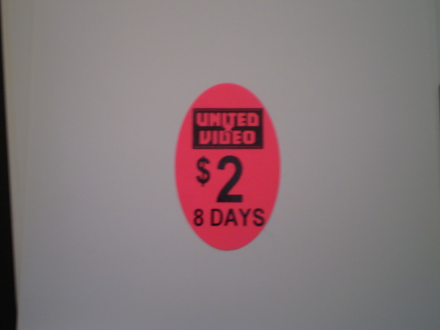 40x25 Oval Pricing Label - Day Glow Pink