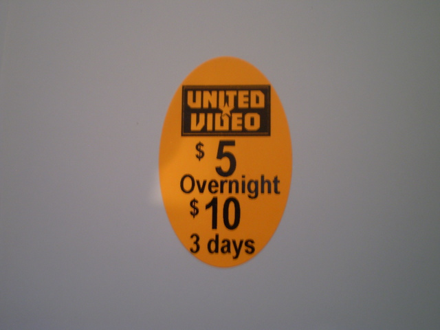40x25 Oval Pricing Label - Day Glow Orange