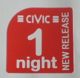 Overnight New release label