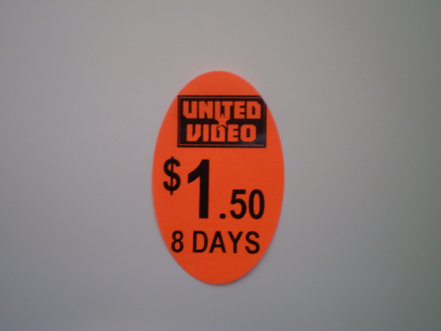 40x25 Oval Pricing Label - Day Glow PinkRed